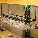 Wine rack Botelleros - Soporte de Vaso de Vino Creativo de Hierro Forjado Que cuelga el Titular de la Copa de Vino Tinto Colgante de Pared Titular de la Copa de Vino invertido Europeo Felice Home