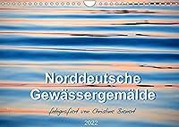 Norddeutsche Gewaessergemaelde (Wandkalender 2022 DIN A4 quer): Abstrakte Naturgemaelde in Gewaessern (Monatskalender, 14 Seiten )