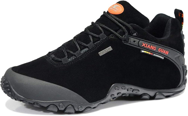 XIANG GUAN Men's Outdoor Suede Low-top Lace up Waterproof Breathable shoes Trekking Travelling Hiking Walking Footwear Sneaker
