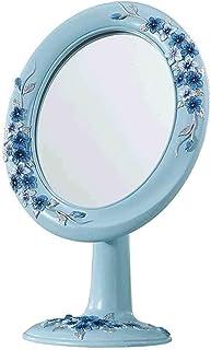 Asdfnfa Makeup Mirror Desktop Portable Fashion Vanity Mirror Princess Dressing 360-degree Rotation Cosmetic Mirror