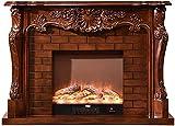 146Cm Elektrischer Kaminofen, Realistischer Flammeneffekt, Programmierbare Fernbedienung, Traditionelles Ofendesign