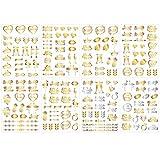 Lurrose 8 Hojas de Tatuajes de Despedida de Soltera Labios Dorados con Forma de Corona de Diamantes Tatuajes Temporales para Bodas Nupciales