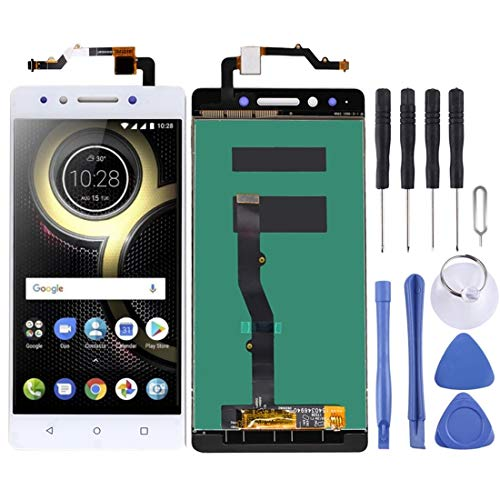 linnaouzhou LCD Screen and Digitizer Full Assembly for Lenovo K8 Note XT1902-3(Black) bbvdiuz (Color : White)