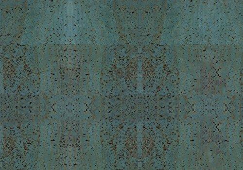Kork/Korkstoff - Eine edle, vegane Leder Alternative - vielen Farben (türkis, 50 x 35 cm)