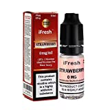 iFRESH 5 X 10ml E-<span class='highlight'>Liquid</span>s l Strawberry Flavour l Zero Nicotine l Vape Juice l 0 mg Nicotine Free l New Premium Quality Formula with Only High-Grade Ingredients VG & PG Mix
