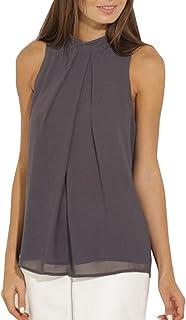 Guiran Women Halter Tank Crop Vest Tops Shirt Sleeveless Chiffon Blouse T Shirt
