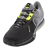 HEAD Sprint Pro 3.0 SuperFabric Tennis Court Shoes for Men-Black/Yellow, 7.0, 7
