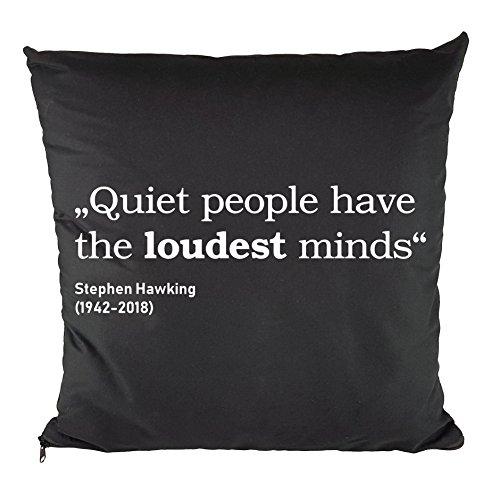 Nukular Kissen inkl. Füllung (Quiet People) Stephen Hawking - 37cm x 37cm - 100% Baumwolle - Dekokissen - Geschenkidee