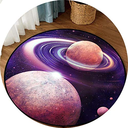 Carpets Carpet Mats Retro Round Carpet Starry Sky Earth Living Room Bedroom Tables And Chairs Non-slip Mats Bedside Blankets (Color : D, Size : 140cm)