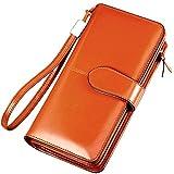 財布 レディース 長財布 二つ折り 牛革 多機能 24ヶ所カードケース 超大容量 財布