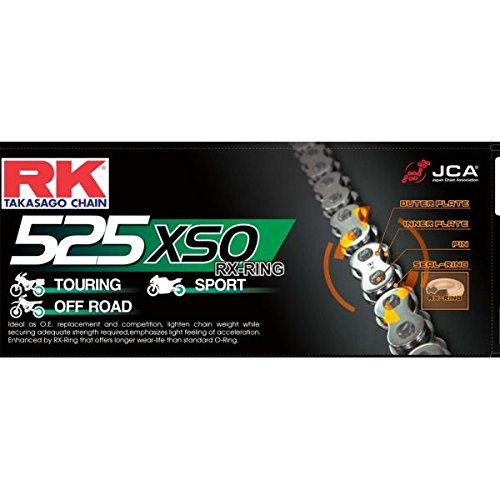 R&K RK Noir HD Rx-ring Moto Chaîne de vélo 525 Xso 106 liens avec Rivet Link