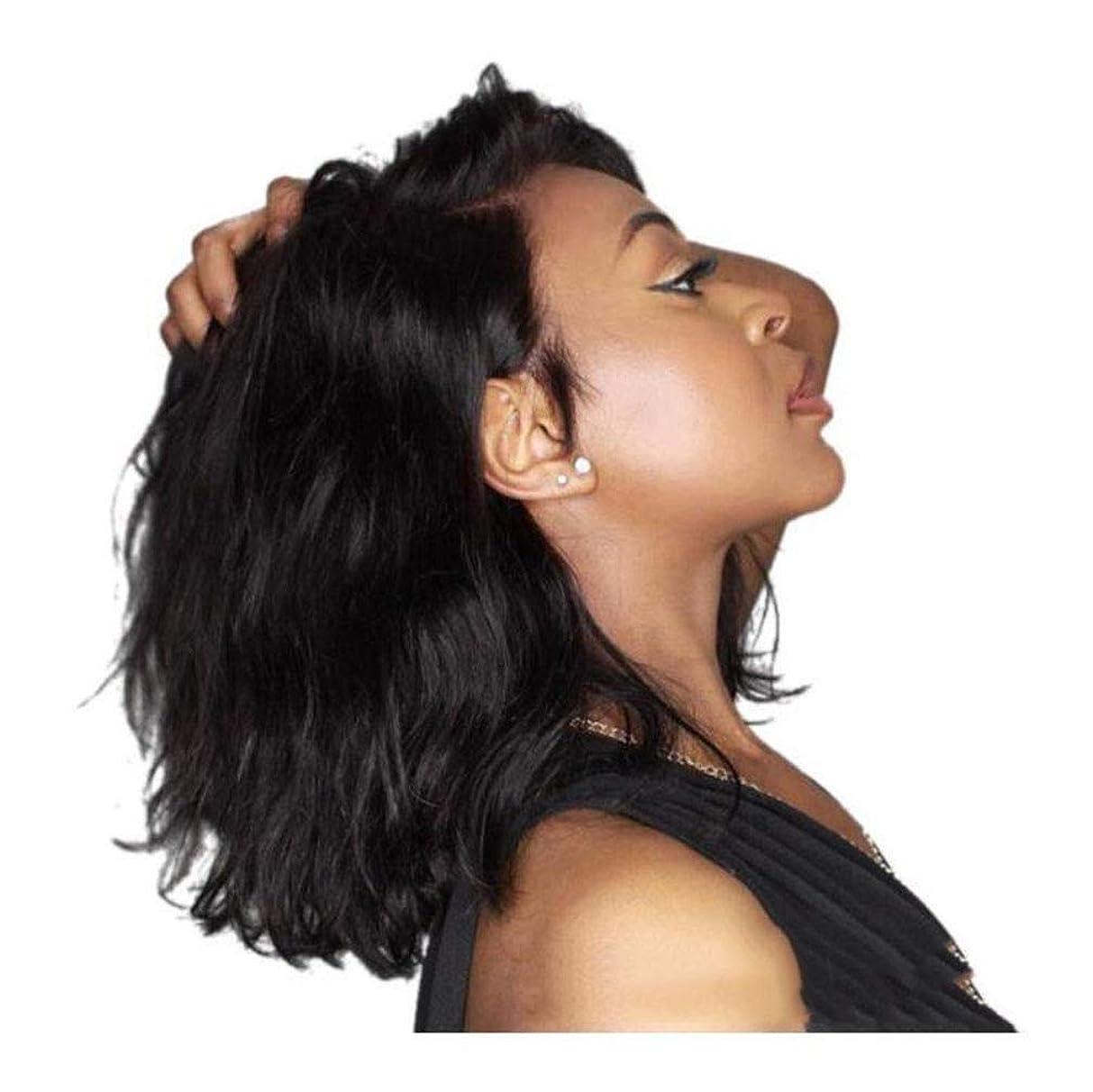 協会アルバニー亜熱帯かつら女性のファッション自然なかつらコスプレパーティー、短い巻き毛の波状の 合成本物の人間の毛髪のかつら