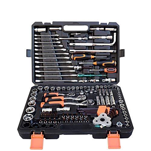BXU-BG Set 135 Juego de herramientas de reparación de automóviles Caja de herramientas de combinación de auto reparación universal Llave de cubo