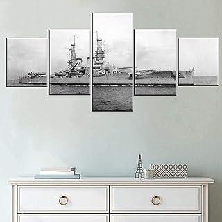 MengJing painting marco 5 Póster de lienzo Arte de la pared del hogar 200 * 100 CM Barco oceánico más antiguo de la Segunda Guerra Mundial. Cuadros modulares 5 paneles decoración pinturas sobre lien
