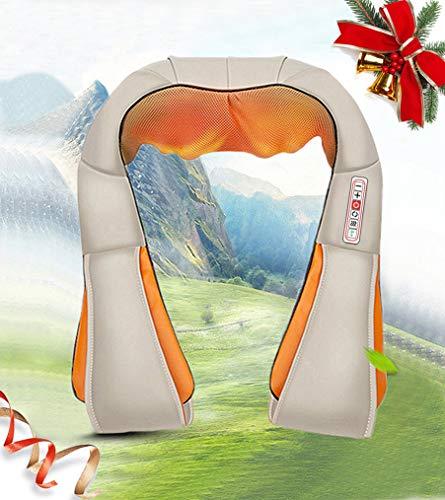 Nek- en schoudermassage Deep Shiatsu-technologie met warmte, auto/bureaustoel Massager, nek, schouder, rug AMQ-6 (beige)