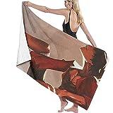 Lfff Absorbente Suave y Ligero para baño Piscina Manta de Yoga Pilates Toallas de Microfibra 80cm * 130cm