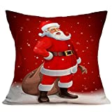 Longra Noël Throw Pillow Case Housse de Coussin Décoration de Maison 45cm * 45cm (1santa 43cm*43cm)