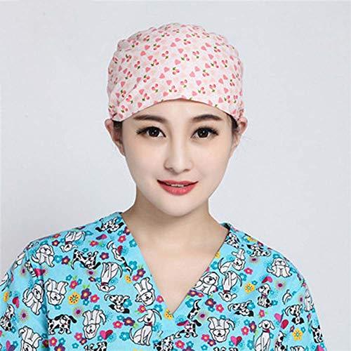 L&F Cotton Printed Chirurgenkappe, geschnürtes Gourd Cap für männlichen und weiblichen Arzt, Krankenschwester Operationssaal, Home Beauty-Kappe, Staubkappe 2ST
