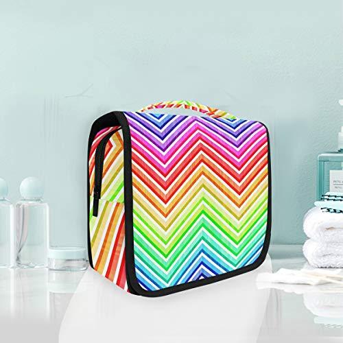 Cosmetic Bag Voyage Hanging Trousse De Toilette Art Vivid Coloré Rainbow Sac De Rangement De Voyage Portable Maquillage Pochette Sac Organisateur Cas pour Les Femmes