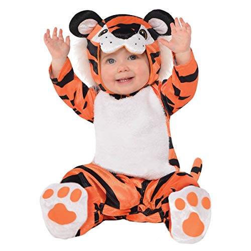 Amscan 846810 Baby Tiny Tiger Costume, 0-6 Months Old