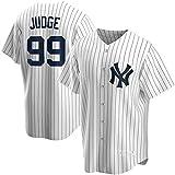 JMING Yankees #45 24#2 Jeter #99 Judge Uniforme De Béisbol para Hombre, Camiseta De Uniforme De Entrenamiento De Béisbol De élite, Camiseta De Manga Corta con Botón Superior De Béisbol (A1,S)