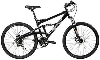 2020 Gravity FSX 1.0 Dual Full Suspension Mountain Bike with Disc Brakes(Black, 19in)