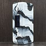 Rayley Protective Silicone Case Skin Cover Sleeve Wrap ModShield for voopoo Drag 2 177W TC Mod Kit (Black White)