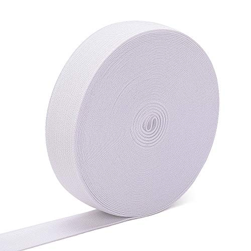 Airisoer Elastic Bands for Sewing 1 Inch 32 Yards White Knit Elastic Spool High Elasticity