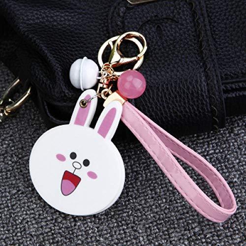 Schlüsselanhänger Für Damen-Schlüsselanhänger Schlüsselbund Nette Plüschkugel EIS Schlüsselring Blumenspiegel Schlüsselbund Weibliche Tasche Anhänger Mädchen Anhänger Schmuck Schlüsselanhänger 1