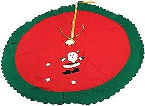 Holiday Time Christmas Decor Red Santa Claus Christmas Tree Skirt with Green Trim