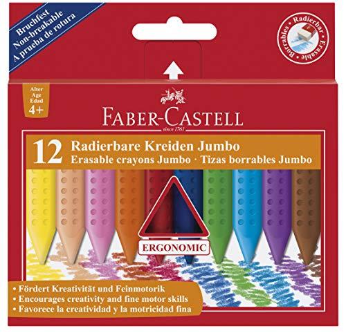 10/piezas, Faber-Castell 088038.09/goma Jumbo Grip Rojo//Azul