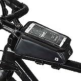Rhinowalk Bolsa Bicicleta Manillar Impermeable Bolsa Móvil de Bici Montaña BTR Carretera Bolso Delantero de Bicicleta para Teléfono Movil Dentro de 6,0 Pulgadas (Negro-1)