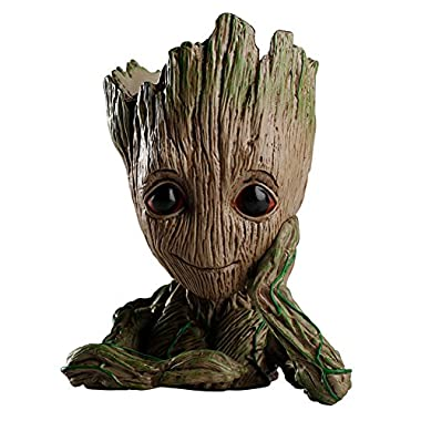 HEYFAIR Treeman Baby Groot Star-Lord Pen Cactus Succulent Planter Pot Container Multifunction Desk Organizer Accessories