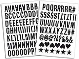 Mademoiselle Toga - MEG604- Termoadhesivos del Alfabeto de 126Letras - 15,5x 27,5x 0,1cm, Tejido de Color Color Negro
