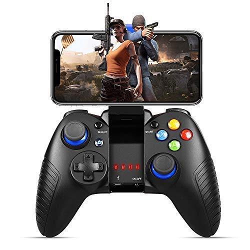 Controlador para iOS, PowerLead Controlador inalámbrico gamepad trabajar con iOS y Android PC Otro teléfono - Juego directo