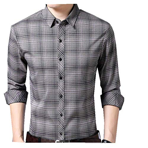 NOBRAND Camisa de manga larga para hombre, de algodón, informal, para hombre