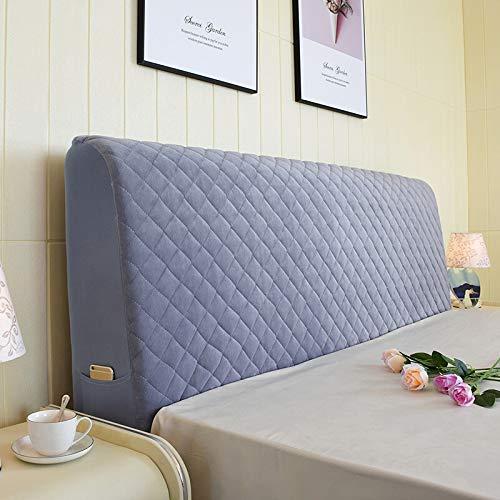 Kopfteil Abdeckung Rücken Voller Paket Staubdicht Abdeckung Protector Soft Bag Gesteppte Bedside Cover Waschbar,Grey-200 * 78cm