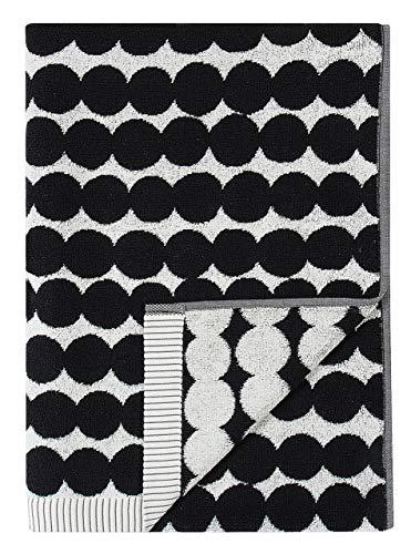 Marimekko - Räsymatto - Duschtuch - Badetuch - Handtuch - Baumwolle - schwarz / weiß - 70x150 cm