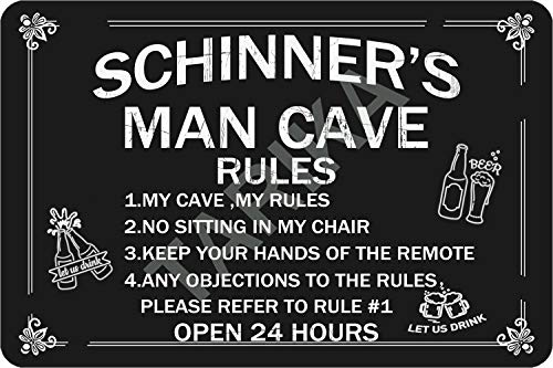 Tarika Schinner'S Man Cave Open 24 Hours Eisen Poster Vintage Gemälde Zinn Zeichen für Straße Garage Home Cafe Bar Mann Höhle Farm Wanddekoration Handwerk