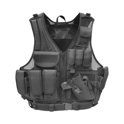 Tactical Airsoft Vest w/Pistol Holster
