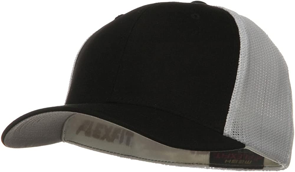 Flexfit Mesh Industry No. 1 Cotton Twill Trucker 2 Cap Tone White - Limited price Royal
