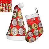 Foto Personalizada Sombrero De Navidad Sombrero Nombre Medias Con Imágenes...