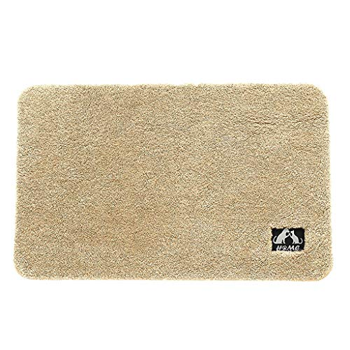 Appoi Carpet Bath mat Runners Bathroom Rugs,Long Floor mats,Extra Soft, Absorbent, Thickening Shaggy Microfiber,Machine-Washable, Perfect Doormats (Beige, Free Size)