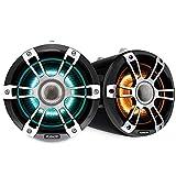 Fusion 010-02439-00 Altavoces de torre de despertador, 7.7 pulgadas, cromo, iluminado