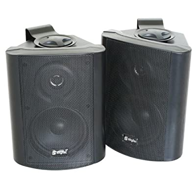 Pair Skytec 2-Way Commercial Speakers for Pubs & Bars - Black by Skytronic