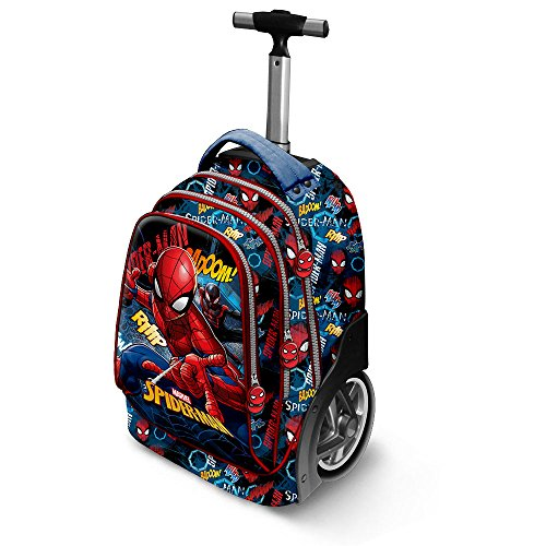 KARACTERMANIA Spiderman Smash-GT Travel Trolley-Rucksack Zaino Casual, 42 liters, Blu