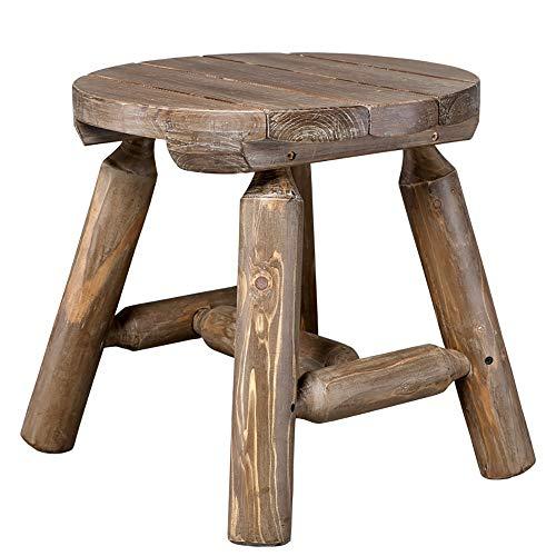 JB- Chaise longue Table Basse Bois Massif Petite Table Rondins Forte Chambre Simple Chambre Jardin Terrasse Table De Rangement (Color : 2#)