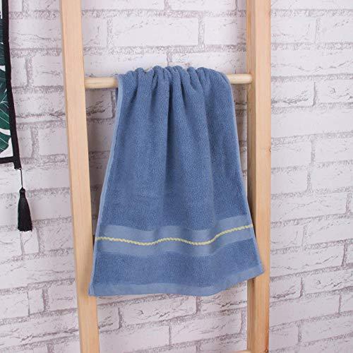 XINDUO Toallas Algodon Egipcio,Toalla Suave de algodón para el hogar 2pcs-Blue_74 * 34,Toalla Súper Suave Alta Absorción