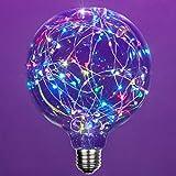 LEDimagine Fairy String Light Bulb Fairy Lights, LED Globe Fairy Light Pendant Bulb, Globe Fairy LED Light (RGB Multicolor Color Changing, G125 Globe Light Bulb, E26 Base)