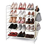 【5-TIER SHOE RACK】This shelves fit boots, high heels or slippers and hold 15-18 pairs of shoes. 【Multifunctional】In the kitchen, set the kitchenware and cutlery. In the living room, the shelves can hold sundries.Put it in the closet and keep the clot...